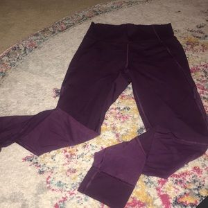 Lululemon highwaist wunder under mesh leggings
